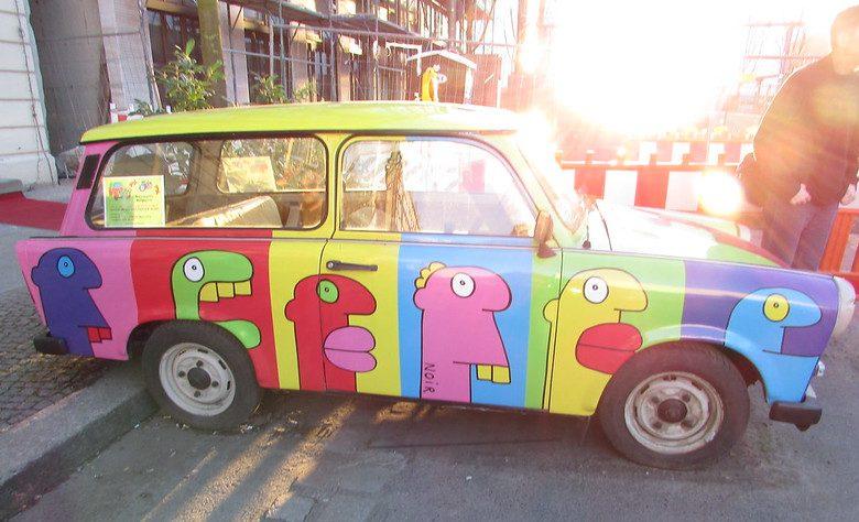 Colorful car in Berlin