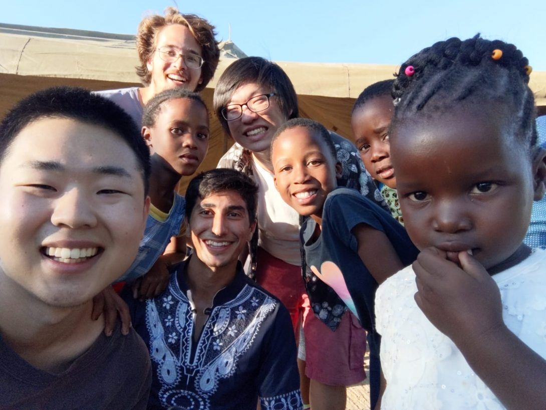 Students with young children in Botswana