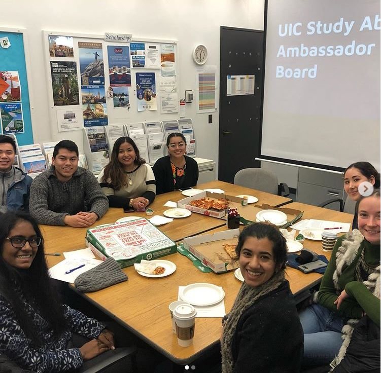 Study Abroad Student Ambassadors Meeting to Discuss Study Abroad