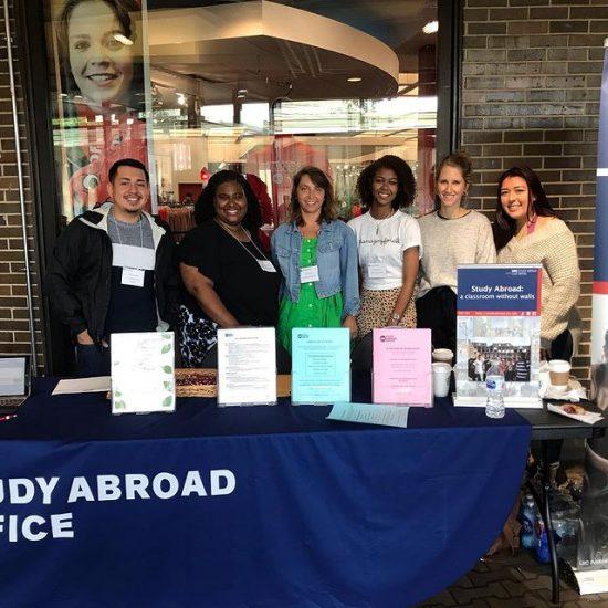 Students volunteering at Study Abroad Fair