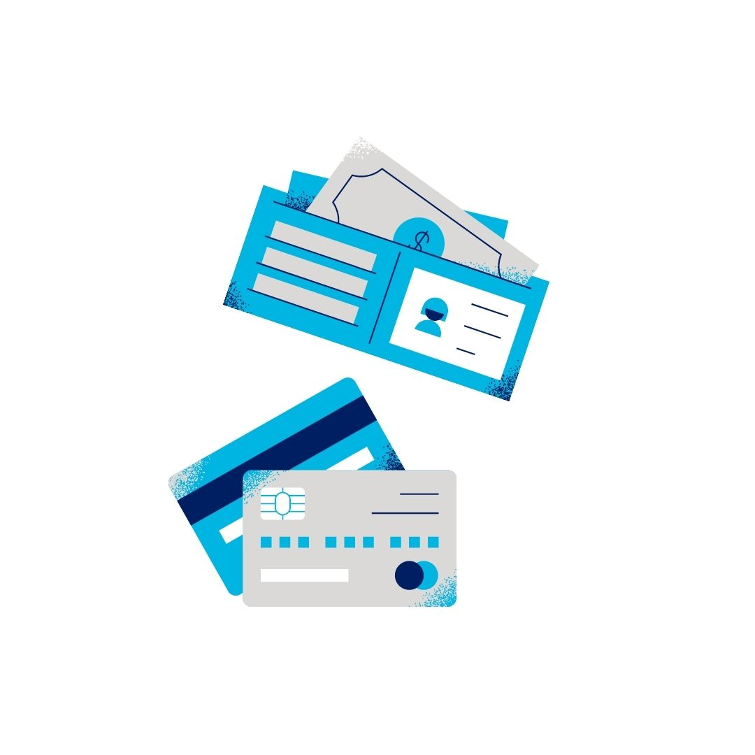 money and credit card clipart