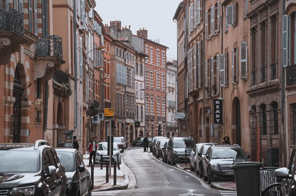 city street in Toulouse France